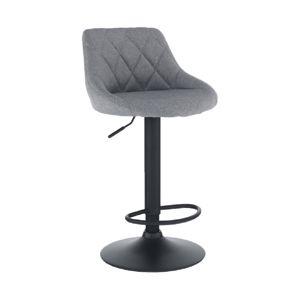 TEMPO KONDELA Barová stolička, látka sivá/čierna, TERKAN