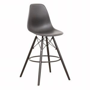 TEMPO KONDELA Barová stolička, čierna, CARBRY NEW