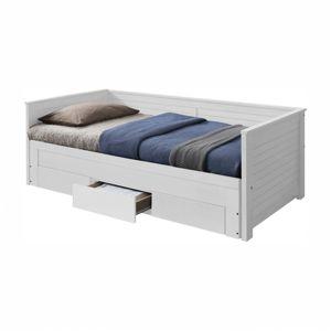 TEMPO KONDELA Rozkladacia posteľ, biela, GORETA