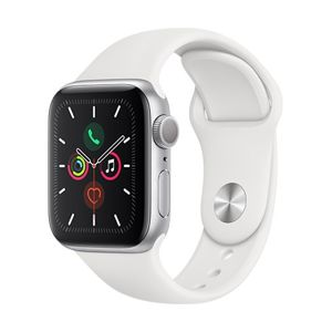 Watch S5, 40mm, Silver/ White Sport Band