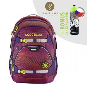 Školský ruksak coocazoo ScaleRale, Soniclights Purple, AGR+ BONUS ZDRAVÁ FĽAŠKA za 0,05 EUR - NÁVRAT DO ŠKOLY