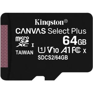 64GB microSDXC Kingston Canvas Select Plus  A1 CL10 100MB/s bez adapteru