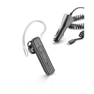 Bluetooth headset CellularLine Mono s autonabíjačkou, čierny