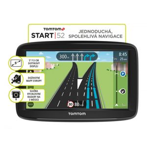 TomTom START 52 Europe, LIFETIME mapy