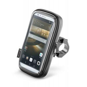 """Voděodolné puzdro Interphone SMART pre telefóny do veľkosti 6,5 """", úchyt na riadidlá, čierne"""