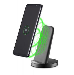 Stojánek pro bezdrátové nabíjení Cellularline WIRELESS FAST CHARGER STAND S USB-C, rychlé nabíjení, Qi standard, černý,r