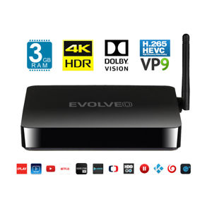 EVOLVEO MultiMedia Box M8, Octa Core multimediální centrum, 3GB RAM, 16GB paměť, BT, HDMI, Wifi