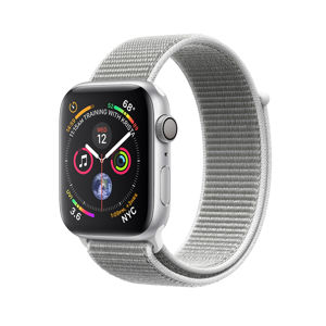 APPLE WATCH SERIES 4 GPS, 40MM SILVER ALUMINUM CASE WITH SEASHELL SPORT LOOP MU652VR/A