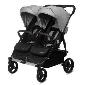 CASUALPLAY - Playxtrem Športový kočík pre dvojičky Baby Twin - Silver (Grey)