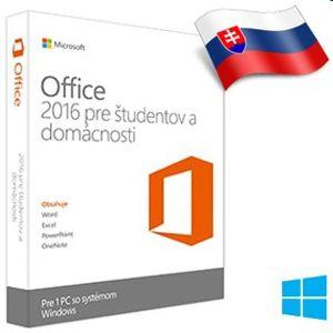 MS Office pre domácnosti a študentov 2016 Slovak