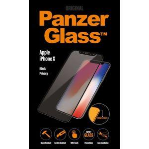 PanzerGlass - Tvrdené sklo Curved Edges Privacy pre iPhone XS/X, čierna