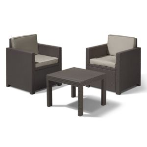 ALLIBERT /209425/ BALKONOVY SET VICTORIA BROWN + BEIGE