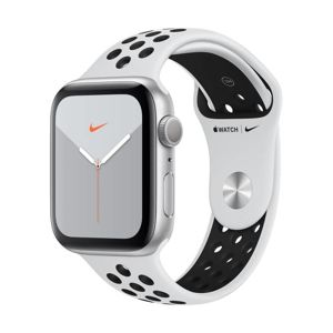 APPLE WATCH NIKE SERIES 5 GPS, 44MM SILVER ALU. CASE PURE PLA./BLACK NIKE BAND, S/M, M/L MX3V2HC/A