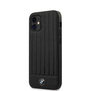 BMW BMHCP12SPOCBK LEATHER HOT STAMP VERTICAL LINES KRYT PRO IPHONE 12 MINI 5.4 BLACK