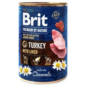 BRIT PREMIUM BY NATURE TURKEY WITH LIVER 400 G (294-100317)