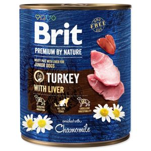 BRIT PREMIUM BY NATURE TURKEY WITH LIVER 800 G (294-100318)