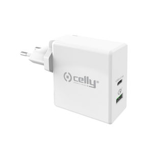CELLY TCUSBC30WWH CESTOVNA NABIJACKA PRO POWER S USB-C (PD) A USB PORTOM, QUICK CHARGE 3.0,30W,BIELA