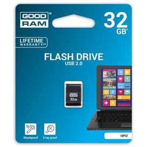 Goodram USB flash disk, 2.0, 32GB, UPI2, čierny, UPI2-0320K0R11, podpora OS Win 7