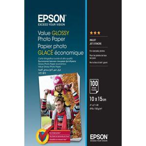 EPSON VALUE GLOSSY FOTOPAPIER 10X15CM, 100 LISTOV, C13S400039