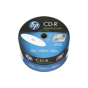 CD-R HP 700MB (80min) 52x Inkjet Printable 50-spindl Bulk