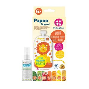 KAPSICKA NA JEDLO PAPOO ORIGINAL LION 6 KS + 50 ML AQUAINT