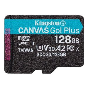 KINGSTON 128GB MICROSDHC CANVAS GO! PLUS 170R/100W U3 UHS-I V30 CARD BEZ ADAPTERU SDCG3/128GBSP
