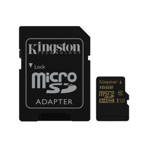 KINGSTON 16GB MICROSDHC CLASS U3 UHS-I 90R/45W + SD ADAPTER