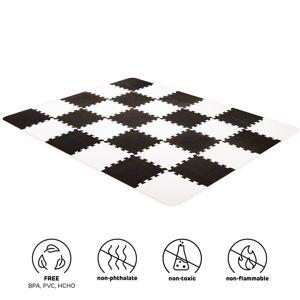 Podložka penová puzzle Luno 150x180 cm Black Kinderkraft