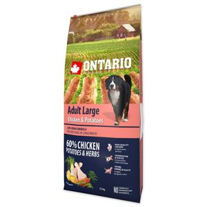 ONTARIO DOG ADULT LARGE CHICKEN & POTATOES & HERBS(12KG)