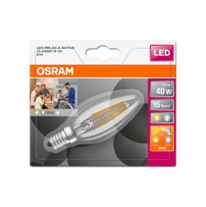 OSRAM LED STAR+ CL B ACT&RELFIL 40 NON-DIM 4W/827 E14