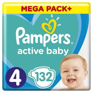 PAMPERS ACTIVE BABY MP+ S4 132KS
