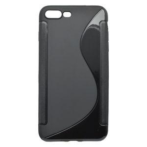 Gumené puzdro S-Line iPhone 8 Plus, čierne