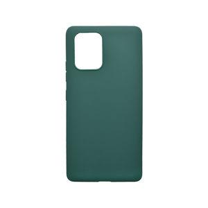Matné silikónové puzdro Samsung Galaxy S10 Lite tmavozelené