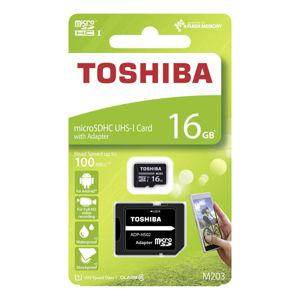 TOSHIBA M203, 16GB, MICRO SDHC, UHS-I U1 (CLASS 10), THN-M203K0160EA