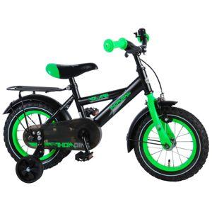 VOLARE - Detský bicykel pre chlapcov Thombike - čierny/zelený 12
