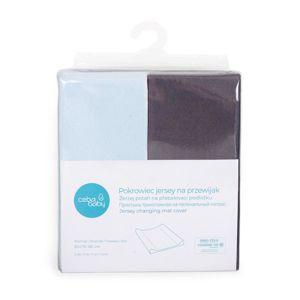CEBA Poťah na prebaľovaciu podložku 50 x 70-80 cm 2 ks Dark Grey+Blue