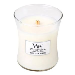 WOODWICK SVIECKA OVALNA VAZA WHITE TEA AND JASMINE 275G, 92062E